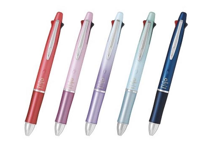 【パイロット ドクターグリップ4+1】細い文字がなめらかに書ける♪疲れにくい多機能ペン